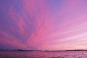 een kleurrijke zonsondergang
