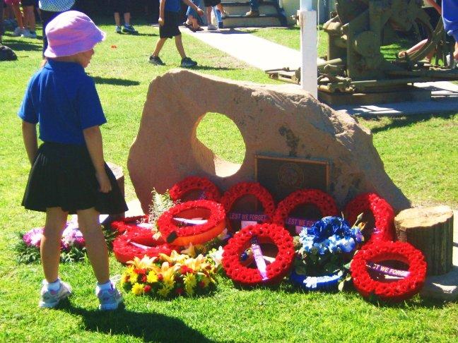 Meisje op ANZAC Day
