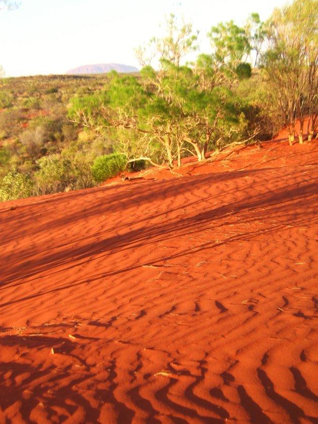 Rood zand
