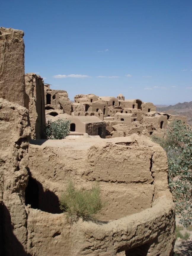 Vervallen dorpje nabij Yazd