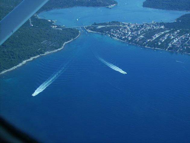 Vlucht boven de Kornati