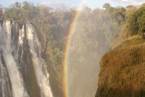 Regenboog bij de Vicoria Falls