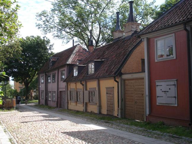 Een mooi straatje in Stockholm