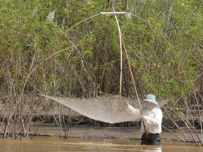 visser uit Laos