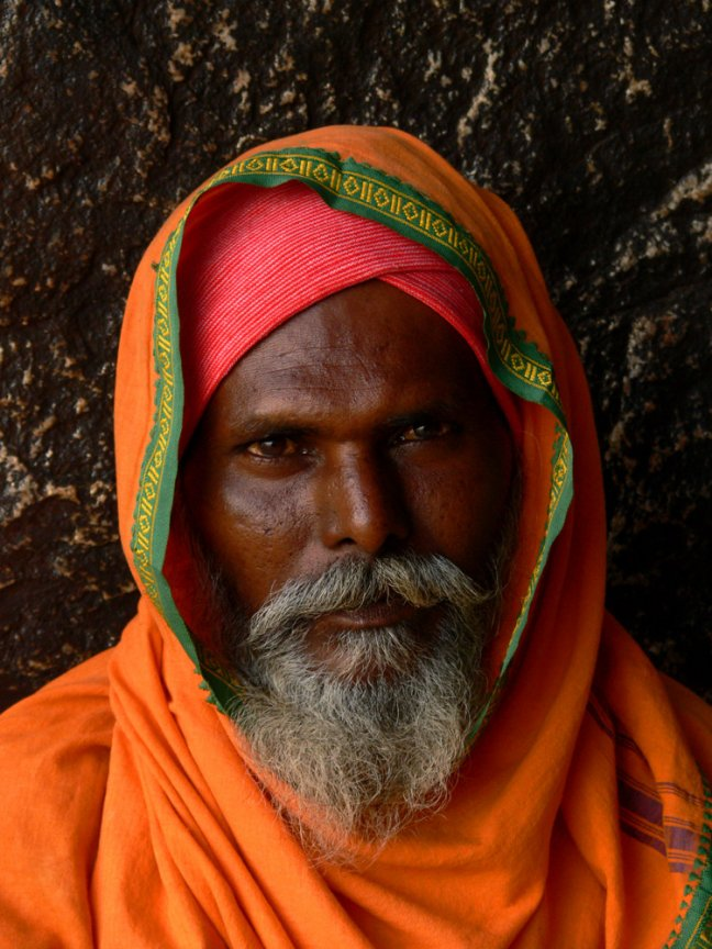 Portrait of a saddhu