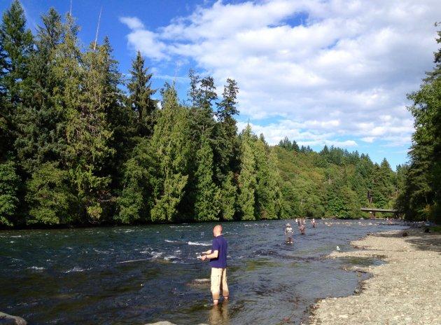 Vissen in Campbell River