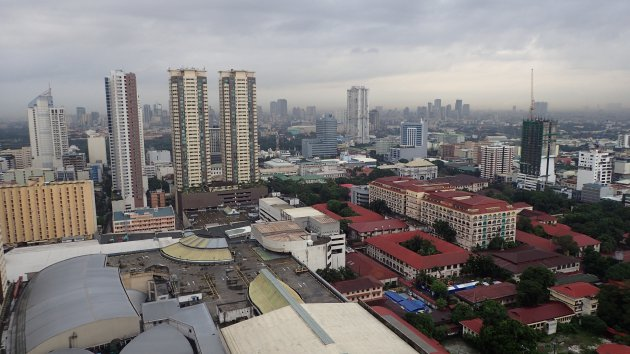 Manilla foto vanuit de kamer van het hotel