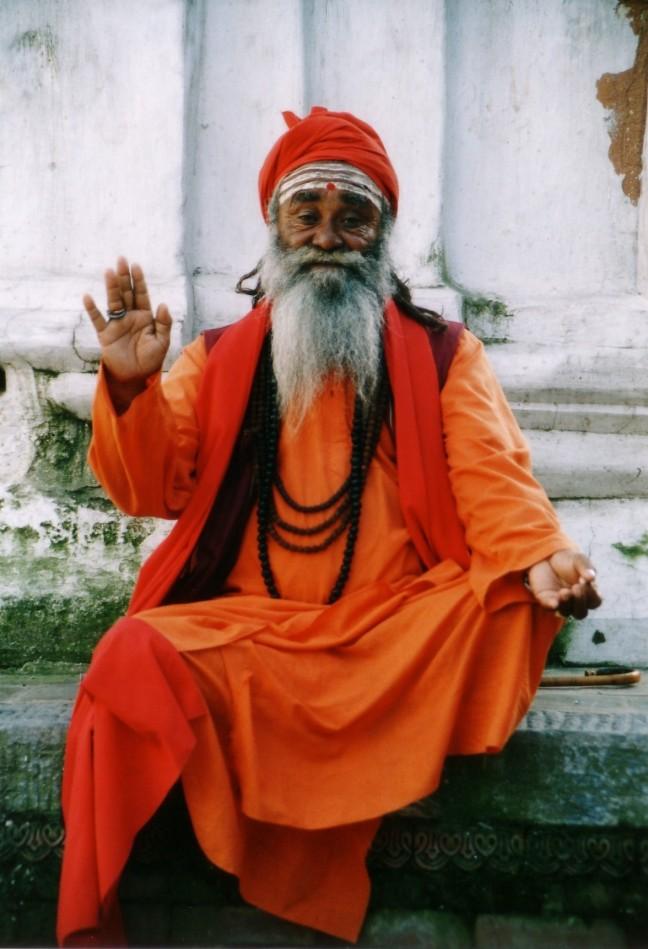 Monnik in Kathmandu