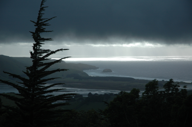 Onweer boven Dunedin