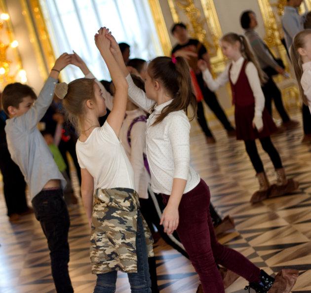 Dansles in balzaal Catharinapaleis