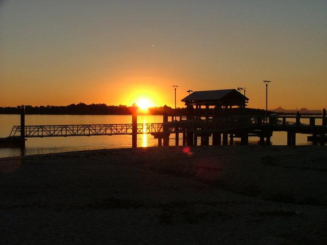 Sunset Bribie island