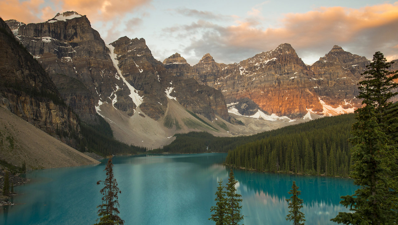 zonsopkomst Moraine Lake