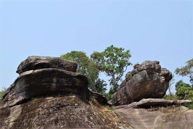 Bijzondere rotsen op oude vulkaan.