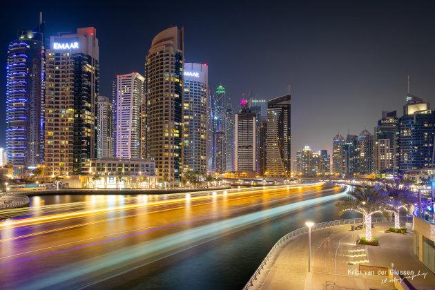 Tekenen met licht in Dubai