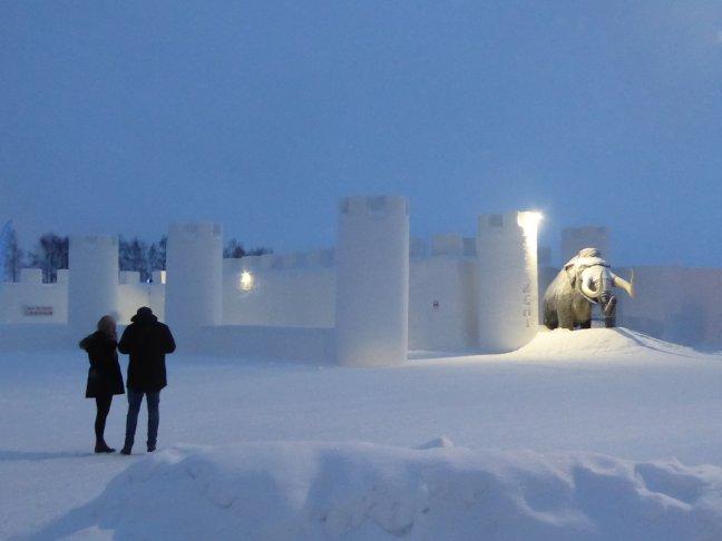 Sneeuwkasteel in Kemi, Finland
