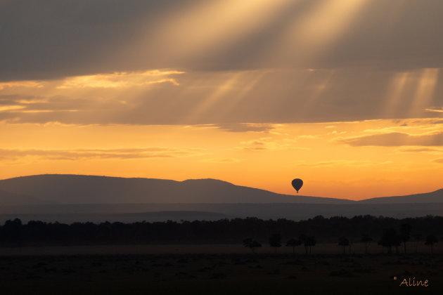 ballonvaart boven de Masai Mara