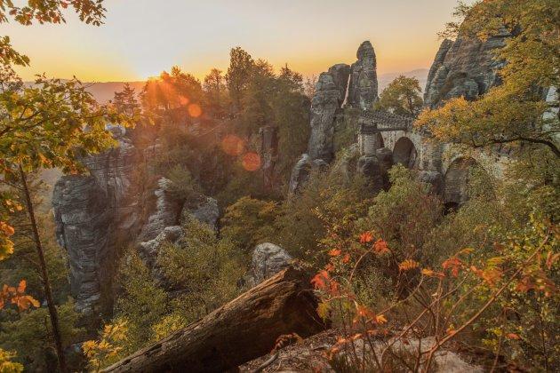 Herfst in de Sächsische Schweiz