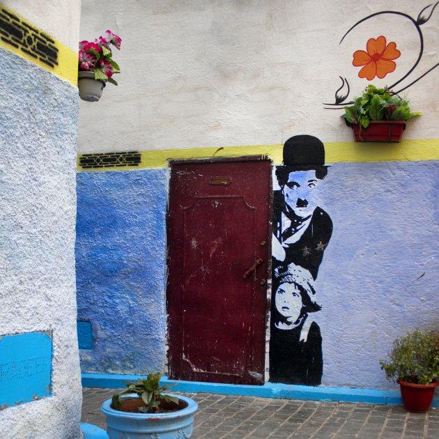 Charlie Chaplin op bezoek in Fez