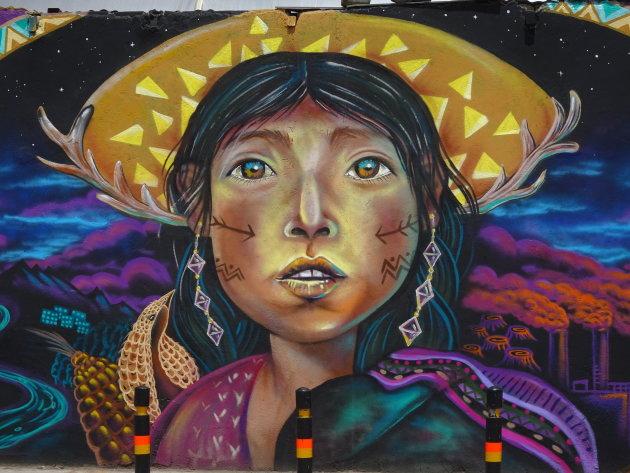 Muurschildering in La Paz