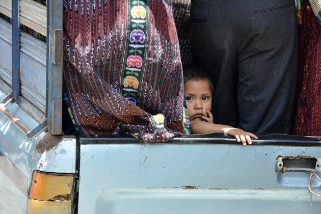 Een jong kind in Guatemala