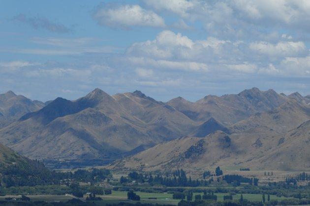 Fluwelen bergen bij Hanmer Springs