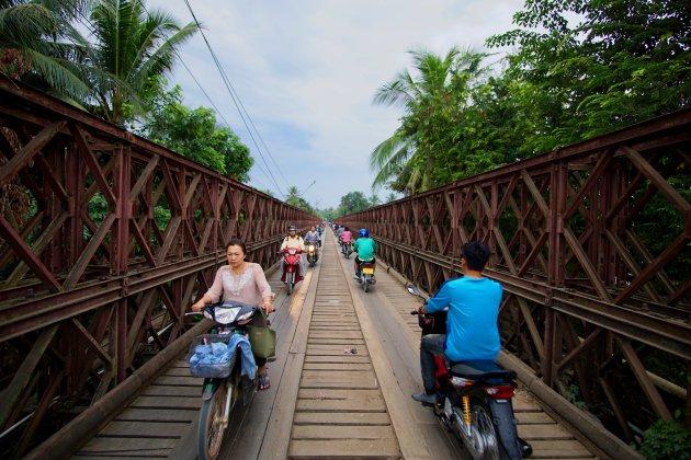 Memorial bridge Luang Prabang