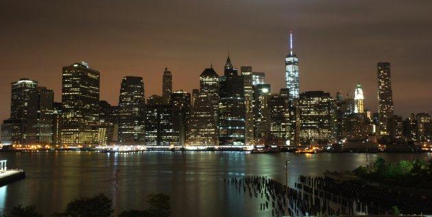 Classic shot van de skyline van New York