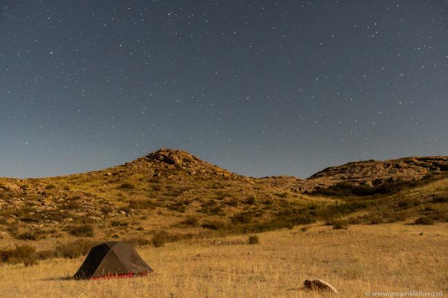 Kamperen onder de sterren in Kazachstan
