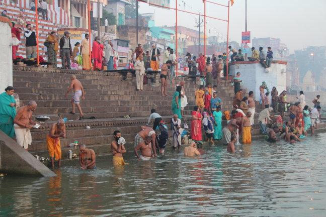 Varanasi aan de oever van de Ganges