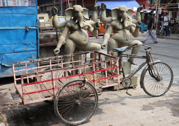 Olifanten in het stadsbeeld