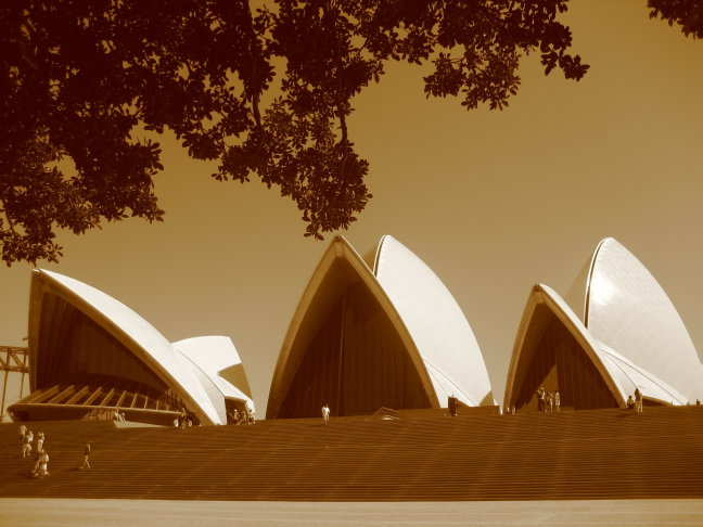 Sydney Opera House sepia