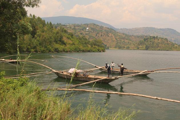 Vissers op Lake Kivu