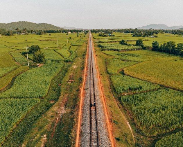 Tussen de rijstvelden van Kampot