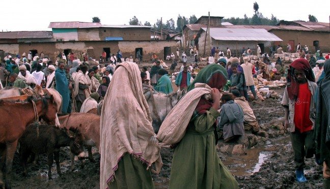 Koudste markt in Ethiopie: Debark