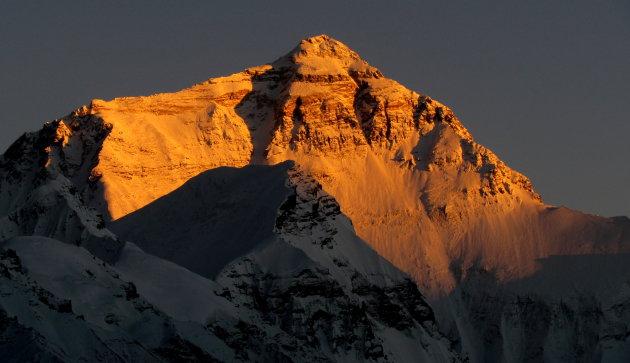 avond valt op Everest