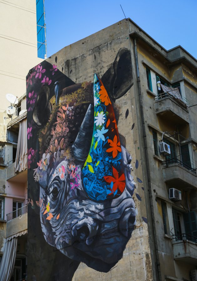 Stunning street art in Beirut