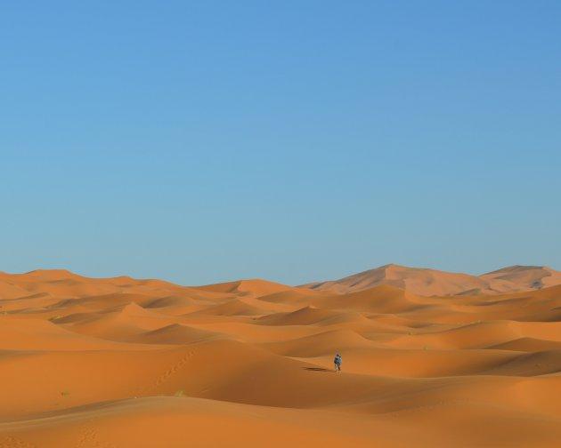 Wegdromen in de oneindige Sahara