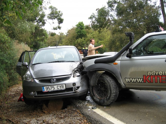 auto ongeluk Tarifa. (geen gewonden)