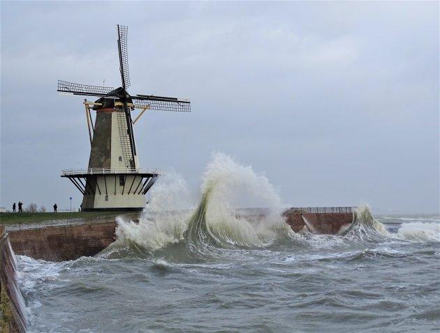 Storm in Vlissingen.