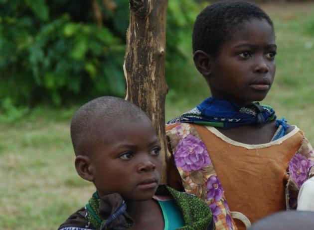 Nieuwsgierige schoolkinderen