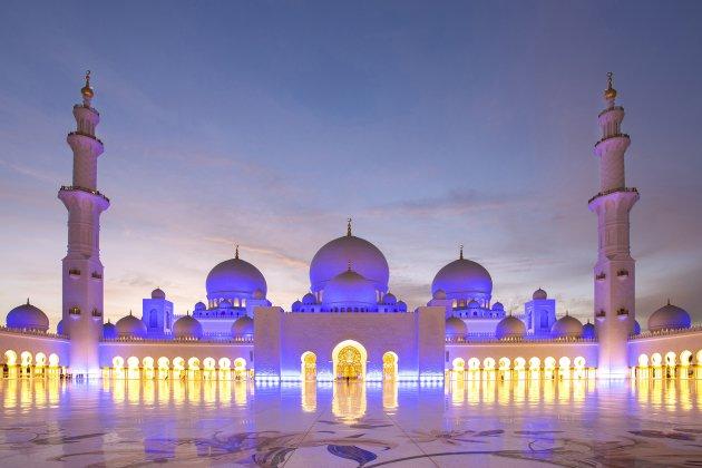 bezoek de Sheikh Zayed moskee in Abu Dhabi