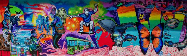 A mural in Memphis