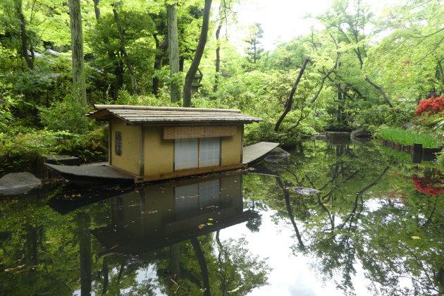 Japanse tuin van het Nezu museum