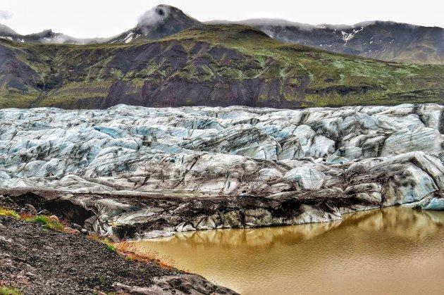 de uitlopers van de Vatnajökull