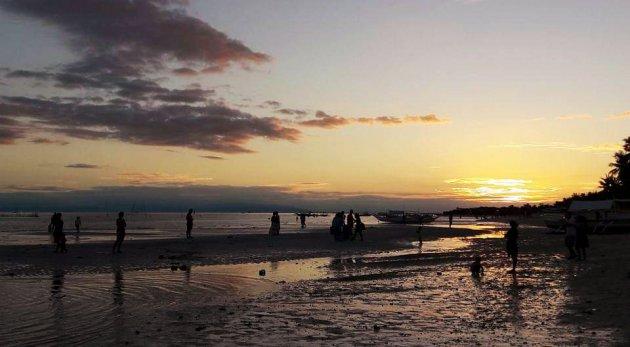 Zonsondergang op het strand van Santa Fé