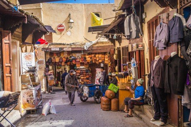Een klein straatje in Fez