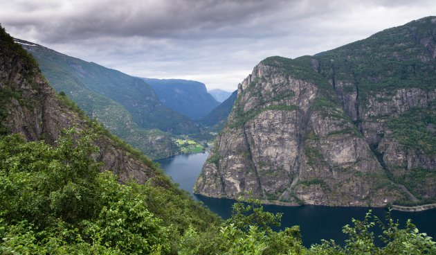 Zomaar een bocht in het Noorse landschap