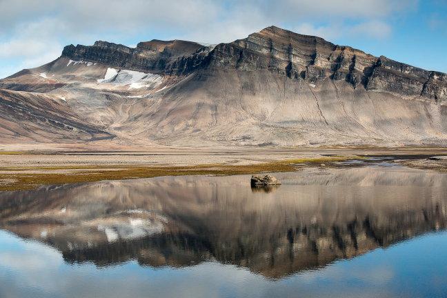 Spiegel op Spitsbergen