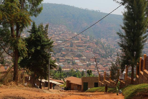 Kigali wandelend verkennen