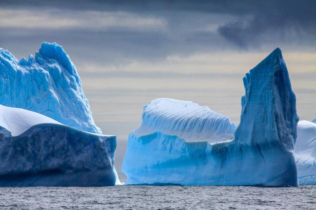 IJssculpturen bij Antarctica